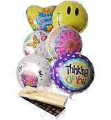Balloons & Chocolate: Thinking of You Balloons & Chocolate-6 Mylar